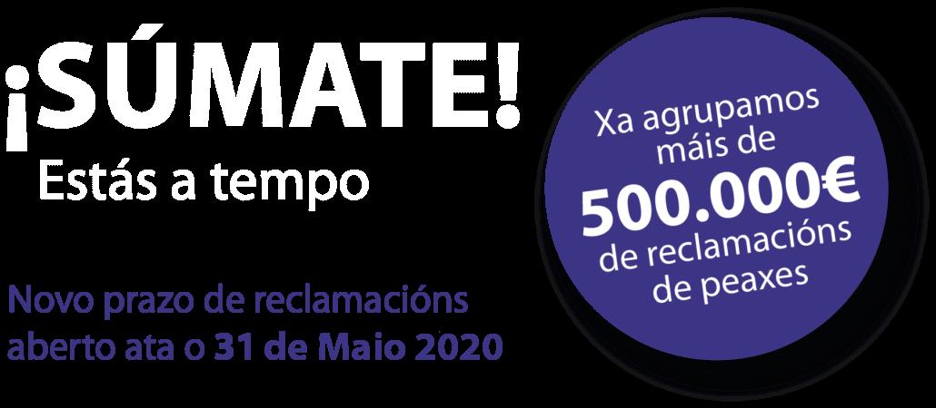 Prazo reclamacións ata o 31 Maio 2020